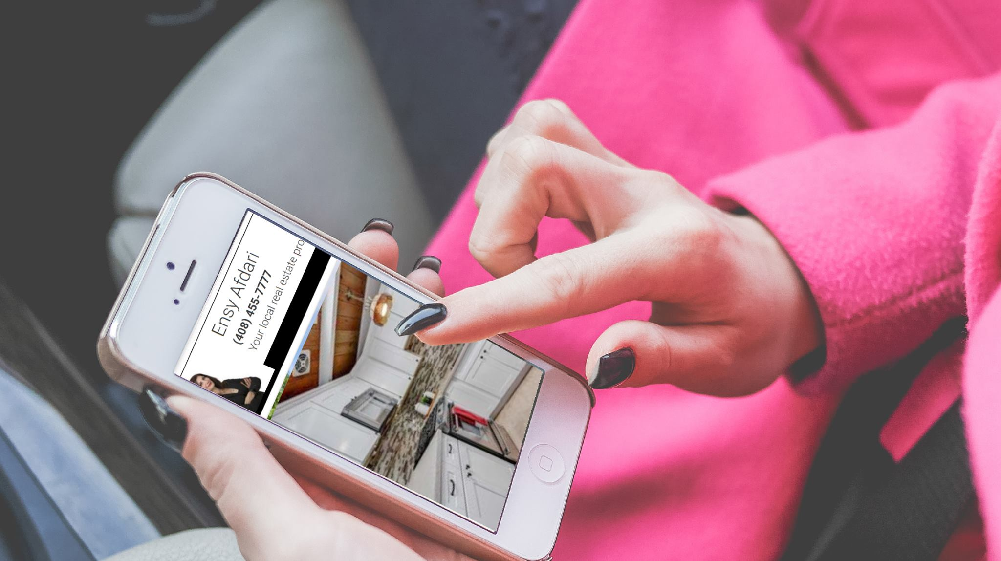 Luxury Real Estate Agent For Silicon Valley On Mobile Phone Screen